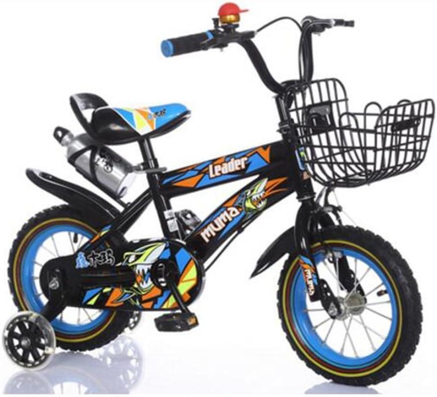 Bicyclehx Original Safety Lightweight Kids Primer Running Balance Bike con Frenos y neumáticos neumáticos 12/14/16/18 Pulgadas Sport Edition Bicicleta para niños