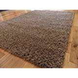 STYLISH SUEDE BISCUIT MEDIUM NEW MODERN SOFT TOUCH SHAGGY RUGS NON SHED RUNNER MATS 120 X 170 CM (4FT X 5FT, 7)
