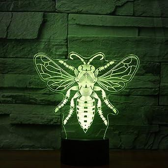 OSVD Miel de abeja 7 que cambia de color Luz de noche ...