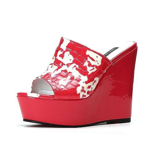 Sandalias Para Mujer Y Gruesa De Suela Cuña Zapatillas tQdrsh