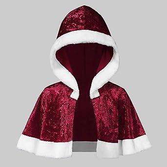 WUSIKY Weihnachtskleider für Damska Geschenk für Frauen Weihnachtskleid Frohe Christmas Samt Langarm O-Neck Festival Kleid und Kapuzenumhang: Odzież