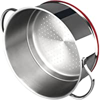 Magefesa 01PXSTNOV24 01PXSTNOV24-Steamer 24 cm Modelo Nova de diámetro Inoxidable, Acero al Carbono, Multicolor
