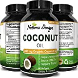 Natures Design Pure and Organic Coconut Oil, Cold Pressed, Highest Grade and Quality Softgels (Best Supplements) – Certified Full Strength – 100% Natural with 2000 mg per serving Review