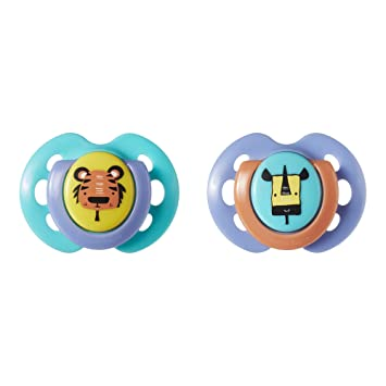 Baby Feeding Count 2 Tommee Tippee Closer To Nature Pacifier 0-6 Months VARY