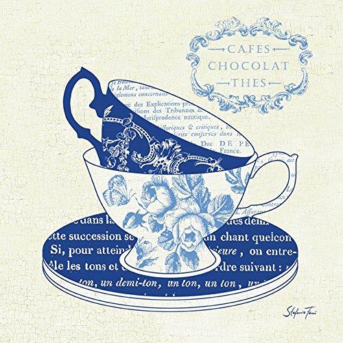 Blue Cups II by Stefania Ferri Art Print, 12 x 12 inches