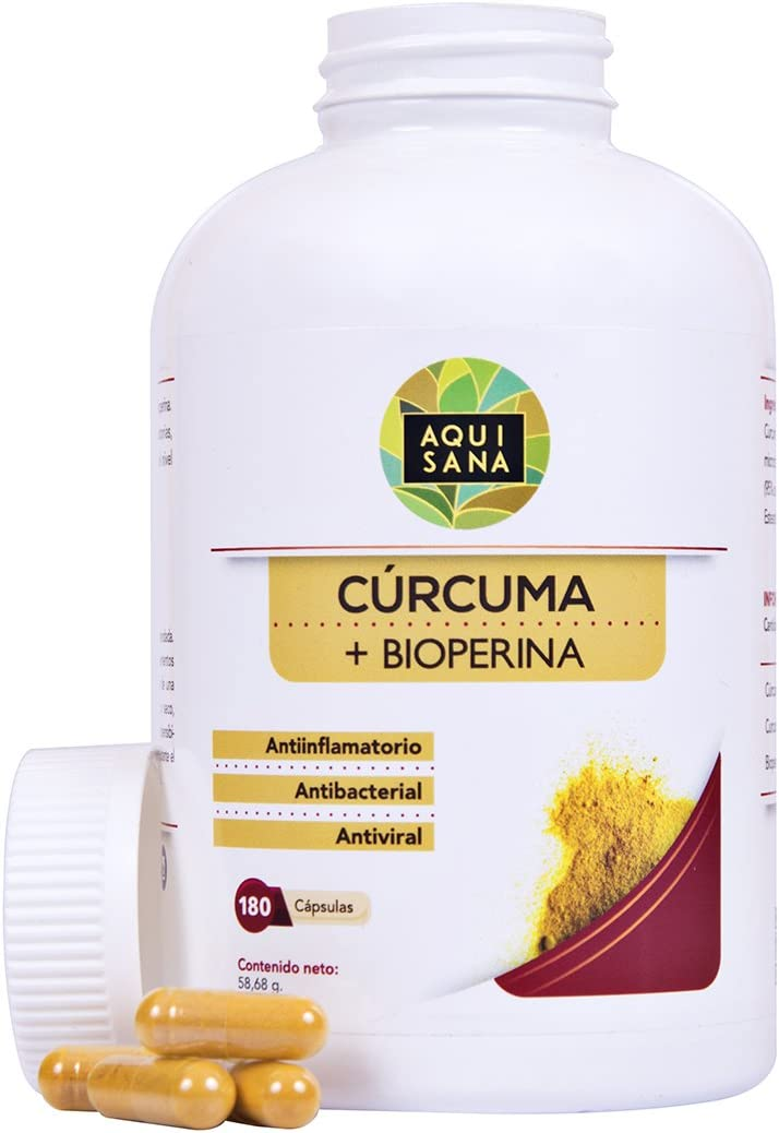 Cúrcuma cápsulas + pimienta negra + Bioperina | Fortalece el ...