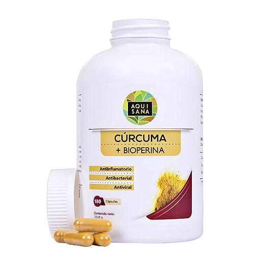 Cúrcuma orgánica con Bioperina de pimienta negra. Fortalece el sistema inmune: Amazon.es: Salud y cuidado personal