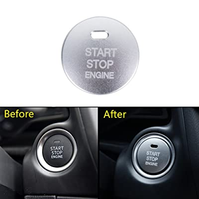 Thor-Ind 1pc Car Engine Push Start Button Cover Cap Trim For Mazda 2 3 6 CX-3 CX-4 CX-5 CX-9 MX-5 Ignition Starter Switch Button knob Sticker (Start Button Cover-Silver): Automotive