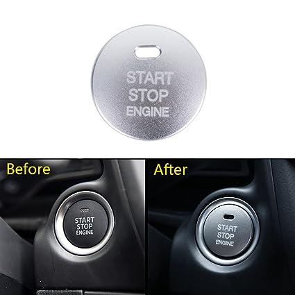 Thor-Ind 1pc Car Engine Push Start Button Cover Cap Trim For Mazda 2 3 6  CX-3 CX-4 CX-5 CX-9 MX-5 Ignition Starter Switch Button knob Sticker (Start