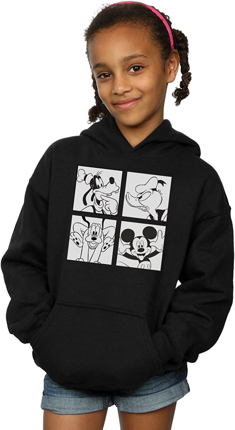 Disney Girls Mickey Donald Goofy and Pluto Boxed Hoodie