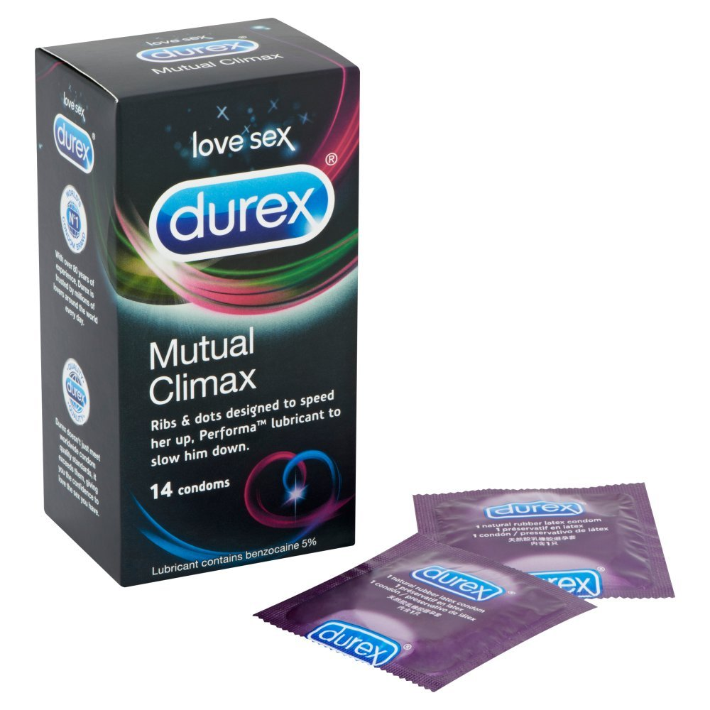 Durex Mutual Climax Condoms Pack Of 14 Health Play Intimate Lube 100 Ml Free Kondom Ribbed Isi 3 Personal Care