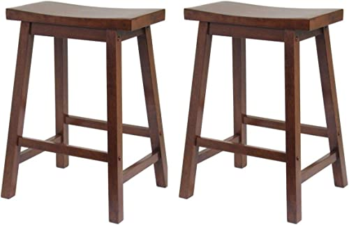 Winsome Wood Satori Saddle Seat Counter Stool