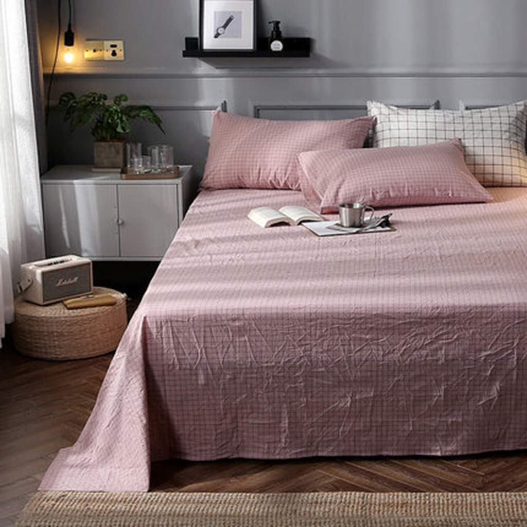 DQMSB Cotton Sheets Dormitory Single Double Men and Women Sheets 0.9/1.2/1.5/2m (Color : D, Size : 120X230cm) by DQMSB