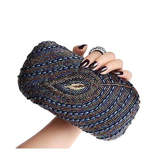à bandoulière Soirée Femmes Blue Pochette Plissée Sac Embrayage main Enveloppe à Sac Classique TAgWTqpn
