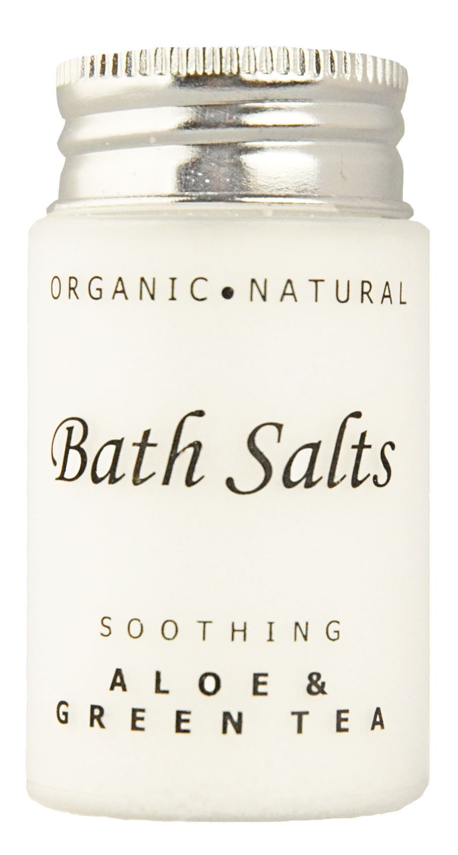 Soothing Aloe and Green Tea Bath Salts, Single Use Hospitality/Travel Size Jar (Case of 300)