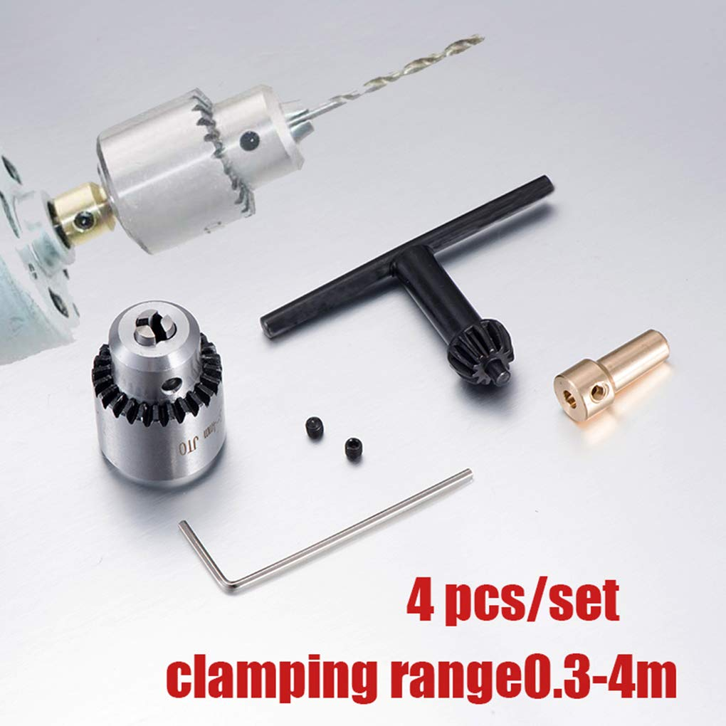 Dergtgh Micro Drill Moteur Mandrin de Serrage 0.3-4mm TJO Conique Mandrin Mounted 3,17 Laiton Mini /électrique Arbre du Moteur