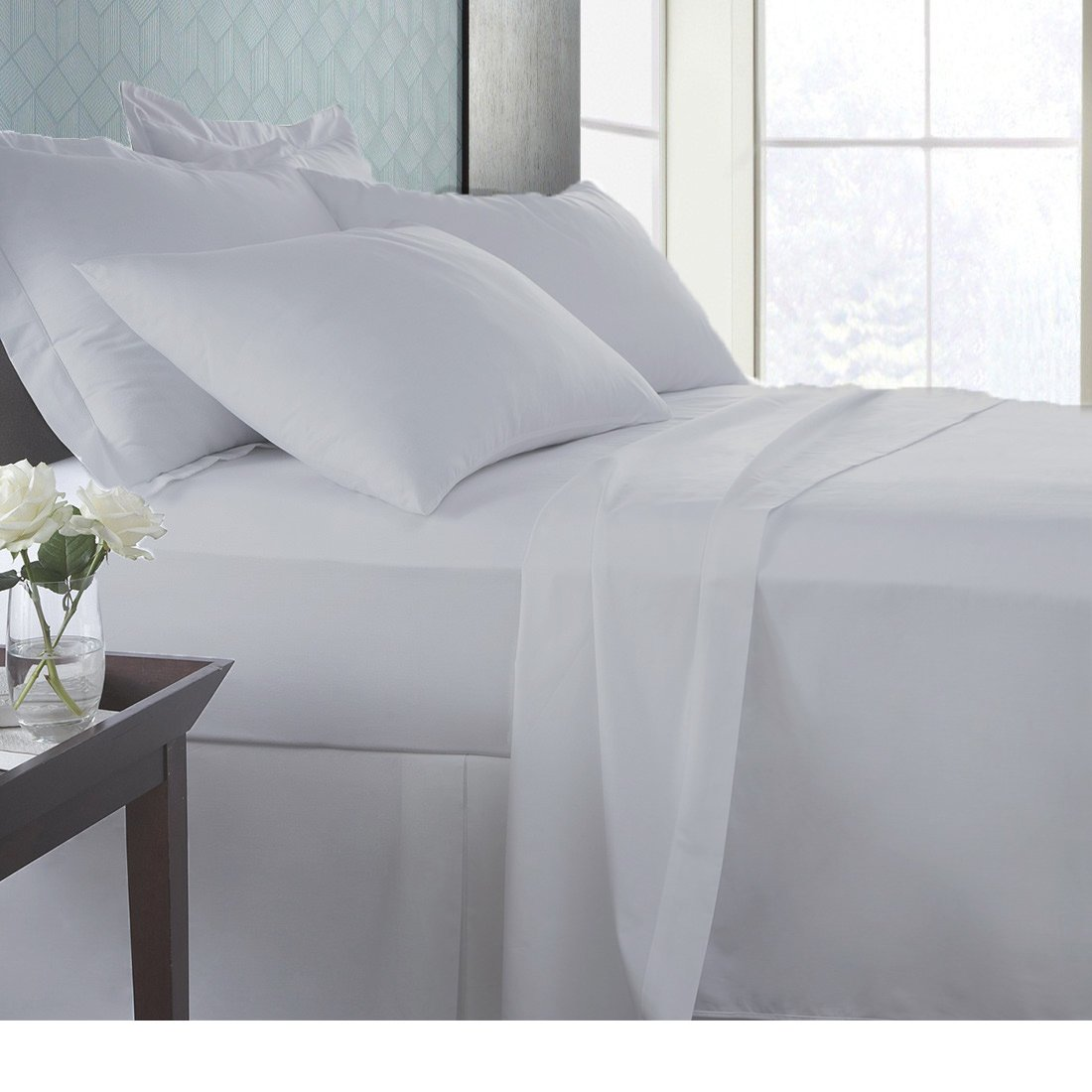 SPA Beddings Present 3 PC Duvet Set 100% Egyptian Cotton 600 Thread Count Premium Duvet Set, Luxurious Feel Italian Finish Comfort Duvet Set with Extra Two Pillow Shames Twin, Silver Grey