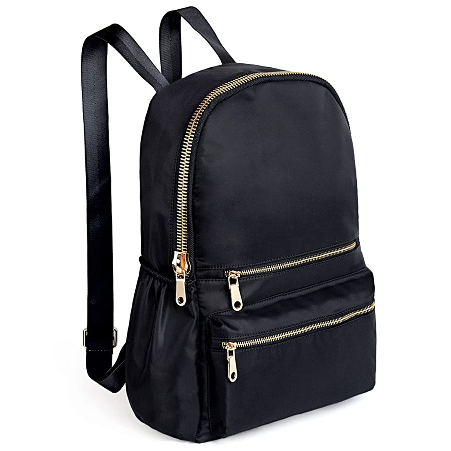 Amazon.com   Women Backpack Black Nylon Daypack Purse Quilted ... : black quilted rucksack - Adamdwight.com