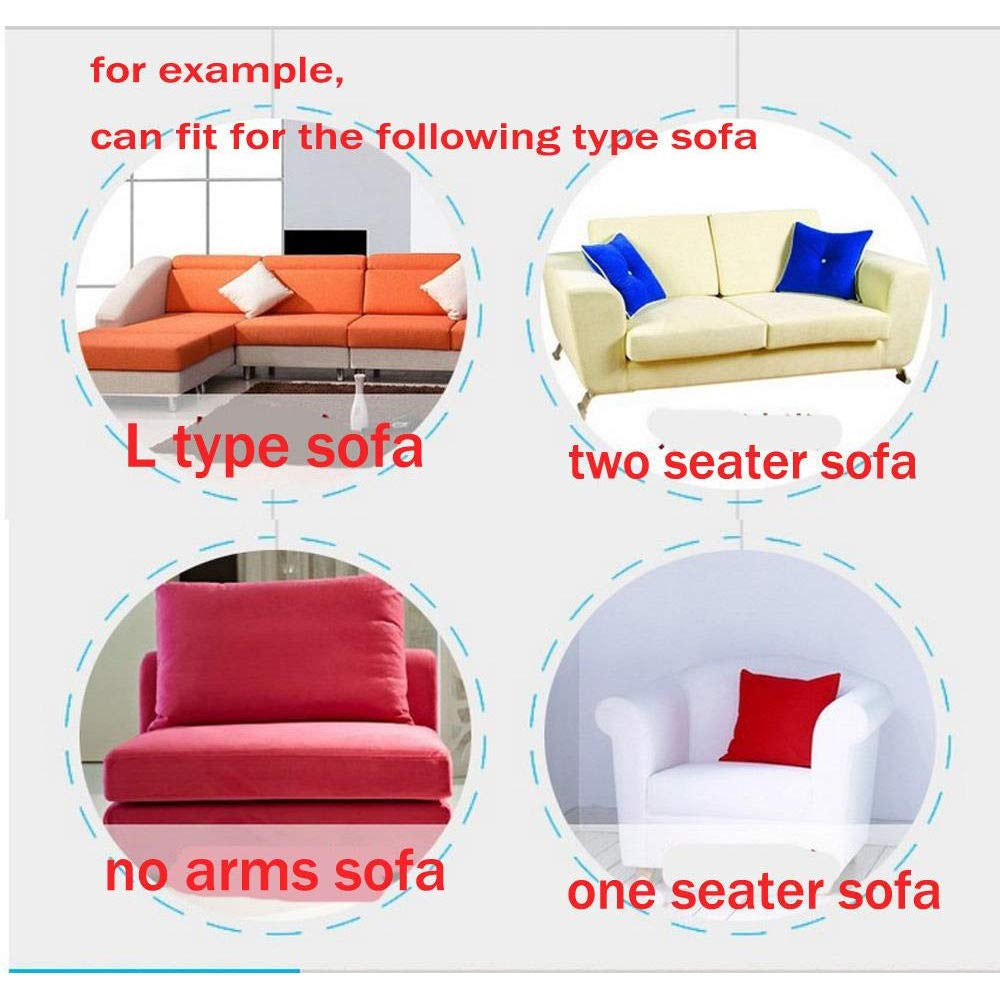 90-140cm Chair with Free Pillowcase as Gift Beige, 1 Seater- Sofa and L Shape TongBF Stretch Elastic Fabric Sofa Cover Sectional Corner Couch Covers for 1//2//3//4 Seats Loveseat