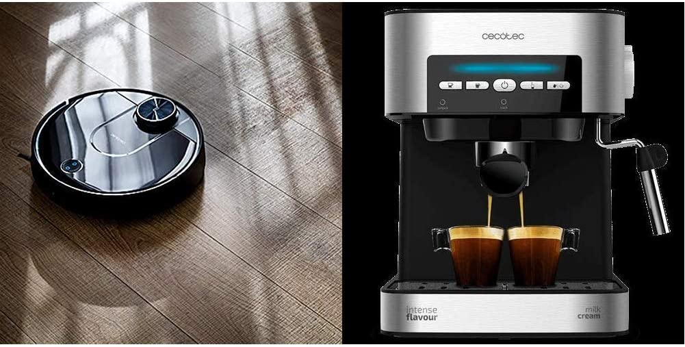 Cecotec Robot Aspirador Conga Serie 3690 Absolute + Power Espresso 20 Cafetera: Amazon.es: Hogar