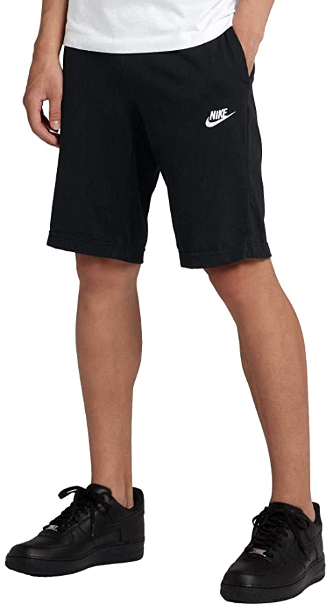 Amazon.com   NIKE Men s Sportswear Jersey Club Shorts (Black cf8db53bee68