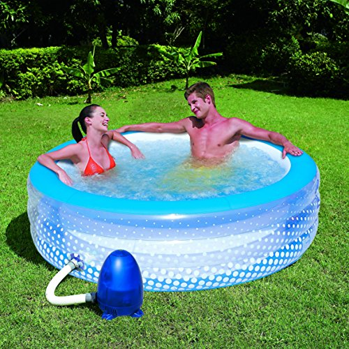 "51108 77""x 21"" Inflatable Bubble Pool and Massage Spa"