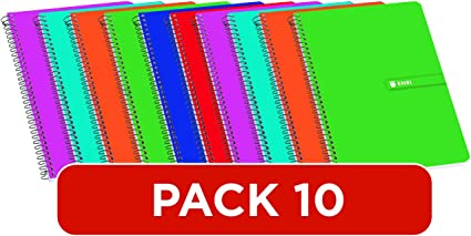 Cuadernos 4º(A5) Enri. Pack de 10 unidades. Tapa blanda. Cuadrícula 4x4. Colores aleatorios.: Amazon.es: Oficina y papelería