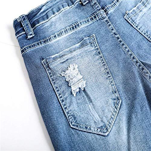 De Agujeros Destruidos Pantalones La Pantalones Vaqueros Vendimia Hombres Joven Los Pantalones De Ocasionales Los Pantalones Rasgados Yasminey De Vaqueros De Cher Hellblau Vaqueros De con Los Pantalones XYfExYAq