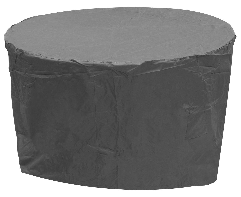 Oxbridge Grey Medium Round Waterproof Outdoor Garden Patio Set Furniture Cover