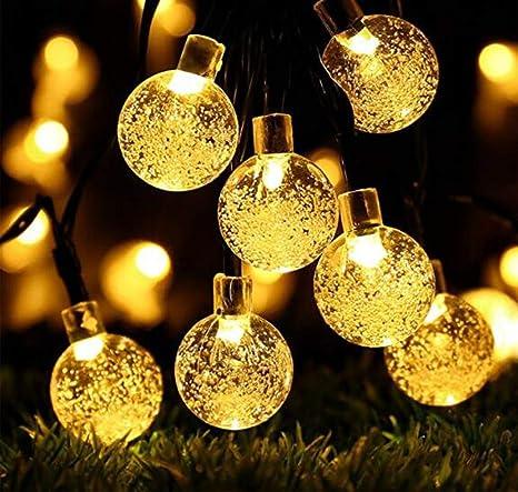 OBTANIM 2-Pack LED Christmas Lights Solar Powered, Warm White String Lights,  Outdoor - Amazon.com : OBTANIM 2-Pack LED Christmas Lights Solar Powered, Warm