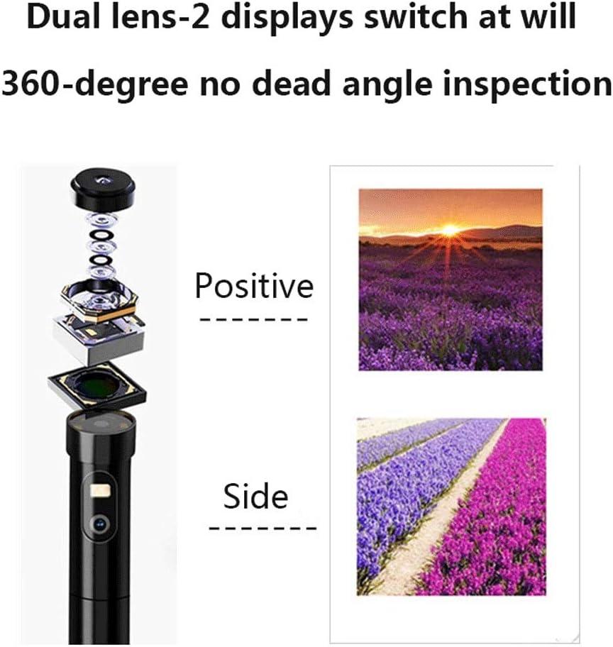 f/ür Android /& iOS Smartphone Tablet GXFC WiFi Endoskop mit Zwei Linsen wasserdichte Inspektionskamera mit halbstarrem Kabel HD Endoskopkamera