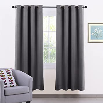 Window Treatment Eyelet Blackout Curtains - PONY DANCE Thermal ...