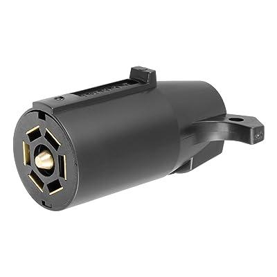 CURT 58140 Trailer-Side RV Blade 7-Way Trailer Wiring Harness Connector, 7-Pin Trailer Wiring: Automotive