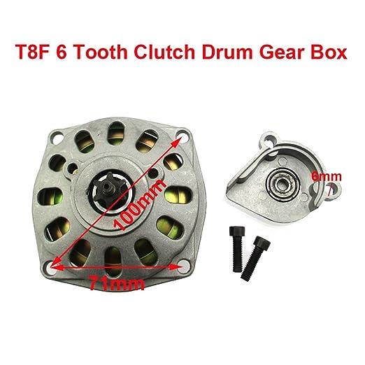 stoneder T8/F 6/dientes Embrague Gear Box funda de pi/ñ/ón de tambor para 2/tiempos 47/cc 49/cc motor Mini Moto la suciedad ni/ños ATV Quad para bicicleta de bolsillo