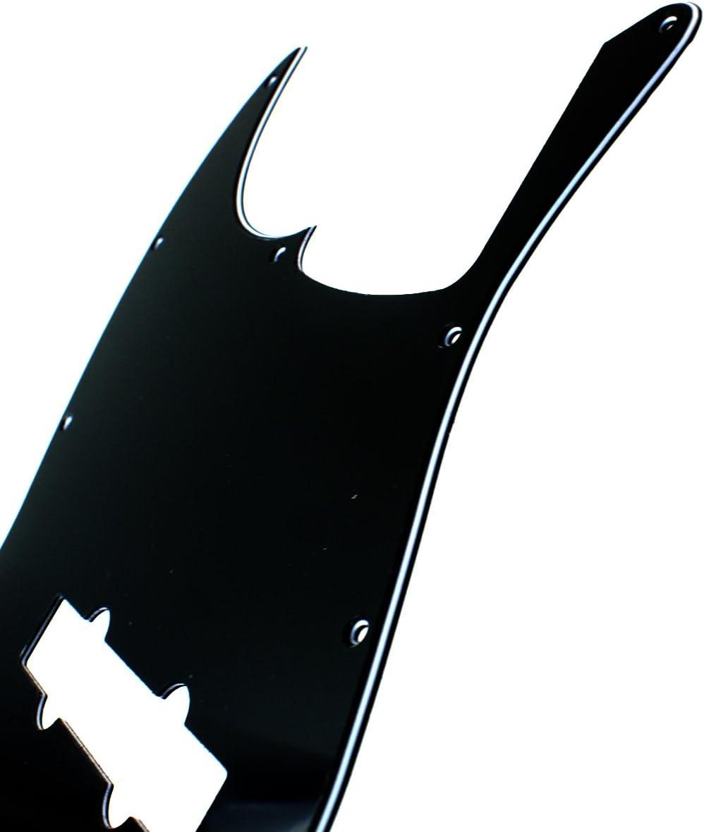 3ply Black Left Handed bass Guitar Pickguard For Jazz Bass 5 String JB