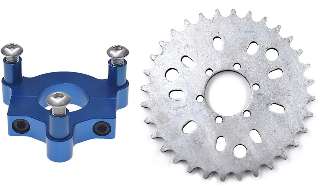 Blue Mingdun 415 Chain Sprocket 1.5 32T CNC Adapter Motorized Bicycle 50cc 60cc 80cc