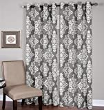Cheap Elrene Home Fashions 026865796148 Grommet Top Linen Look Single Panel Window Curtain Drape, 52″ x 84″, Gray