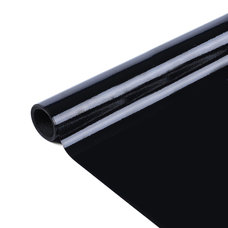 RABBITGOO Blackout Window Film 100% Light Blocking 35.4'' x 78.7'' Window Darkening Film Non-adhesive Black Window Sticker UV Prevention Two-way Privacy Window Covers for Shift Workers & Infant
