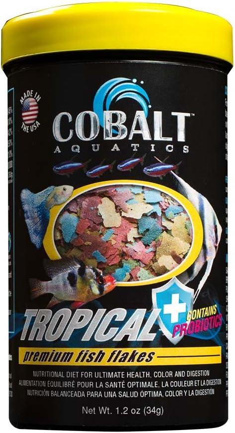 Cobalt Aquatics Tropical Flake, 1.2 oz, Model Number: 20001N,White/Black