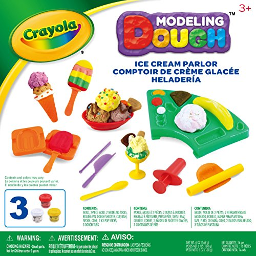 Crayola Modeling Dough Ice Cream Parlor Kit - 16 pieces (Kit Parlor)