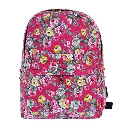 Damara Vintage Allover Expandable Backpack
