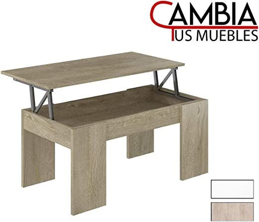 CAMBIA TUS MUEBLES - Mesa de Centro elevable para Comedor, salón ...