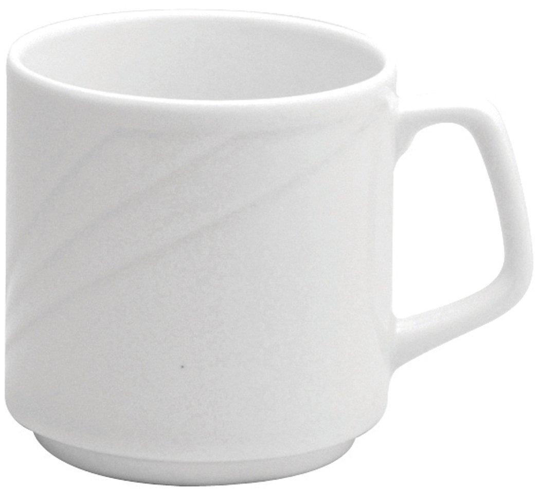 Oneida Foodservice R4510000567 Porcelain Arcadia Mug, 10 oz, Bright White