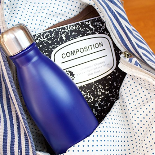 MIRA 17 Oz Stainless Steel Vacuum Insulated Water Bottle - Double Walled Cola Shape Thermos - 24 Hours Cold, 12 Hours Hot - Reusable Metal Water Bottle - Leak-Proof Sports Flask - Blue
