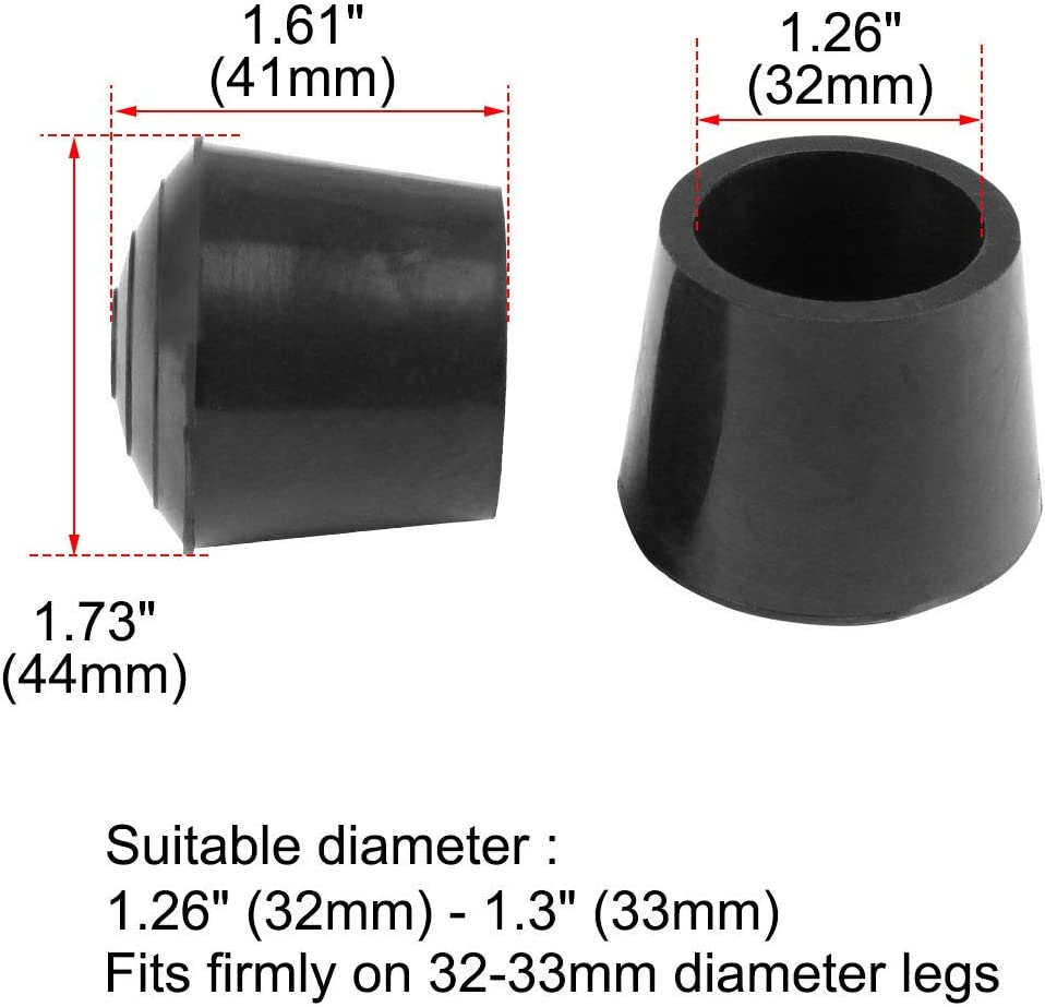 sourcing map 10pcs Chair Leg Tips Caps 10mm 3//8 Inch Anti Slip Rubber Furniture Table Feet Cover Floor Protector Reduce Noise Prevent Scratches