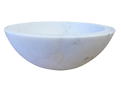 Small White Marble Vessel Sink