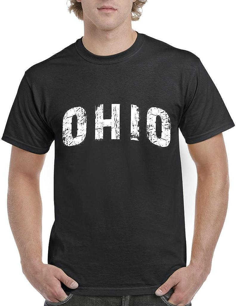 Xekia Ohio Distress Home of Ohio State University Men's T-Shirt Tee