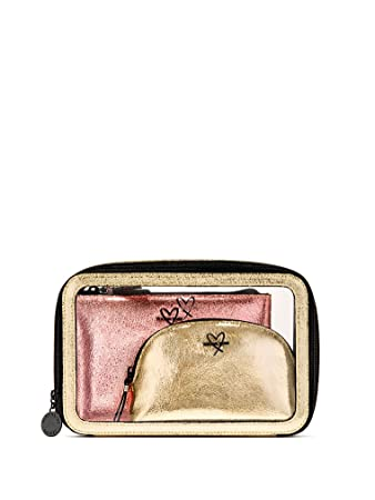c5243e4e8f Image Unavailable. Image not available for. Color  Victoria s Secret  Metallic Trio Cosmetic Bag Travel Set