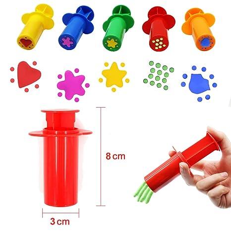 BESTZY Herramientas de Plastilina Inteligentes, 37 Plastico Moldes Juegos de Imitación Juguetes Educativos para Niños: Amazon.es: Juguetes y juegos