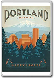 Portland, Oregon, USA Vintage Travel Fridge Magnet